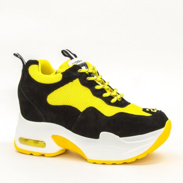 Pantofi Sport cu Platforma Dama QQ19 Yellow Mei
