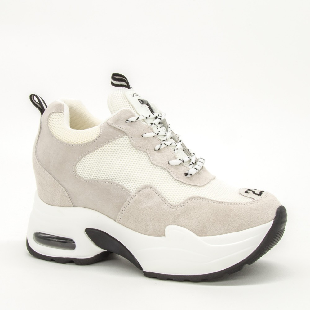 Pantofi Sport cu Platforma Dama QQ19 White Mei