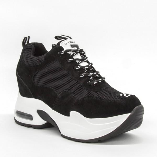 Pantofi Sport cu Platforma Dama QQ19 Black Mei