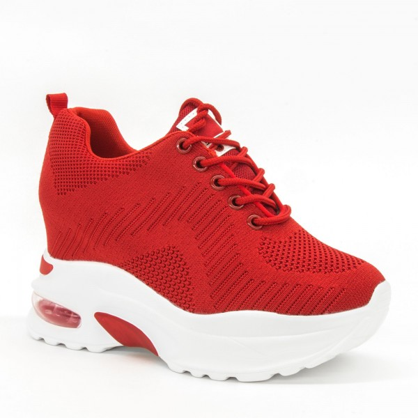 Pantofi Sport cu Platforma Dama QQ17 Red Mei