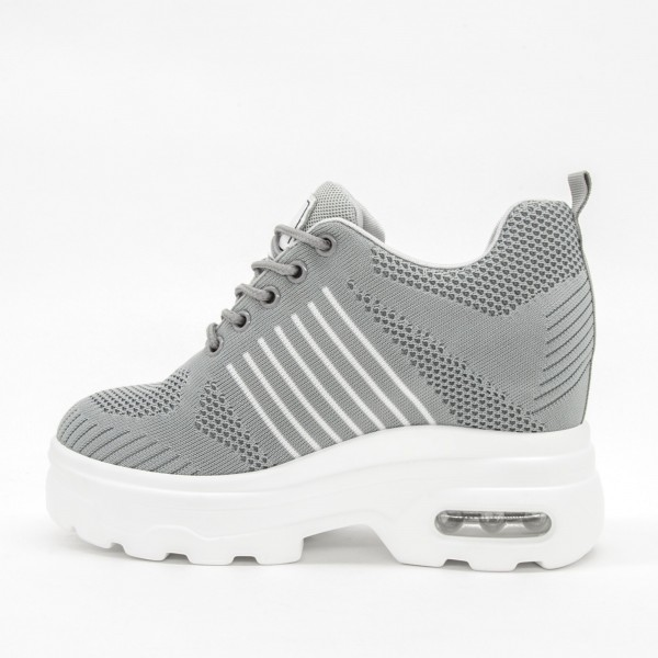 Pantofi Sport cu Platforma Dama QQ16 Grey Mei