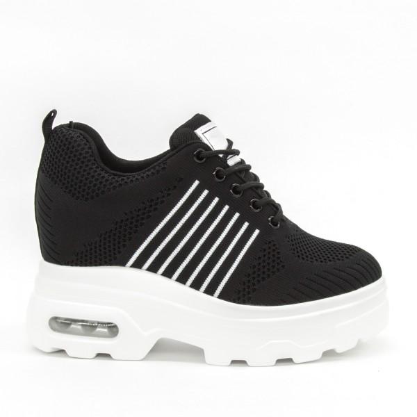 Pantofi Sport cu Platforma Dama QQ16 Black Mei