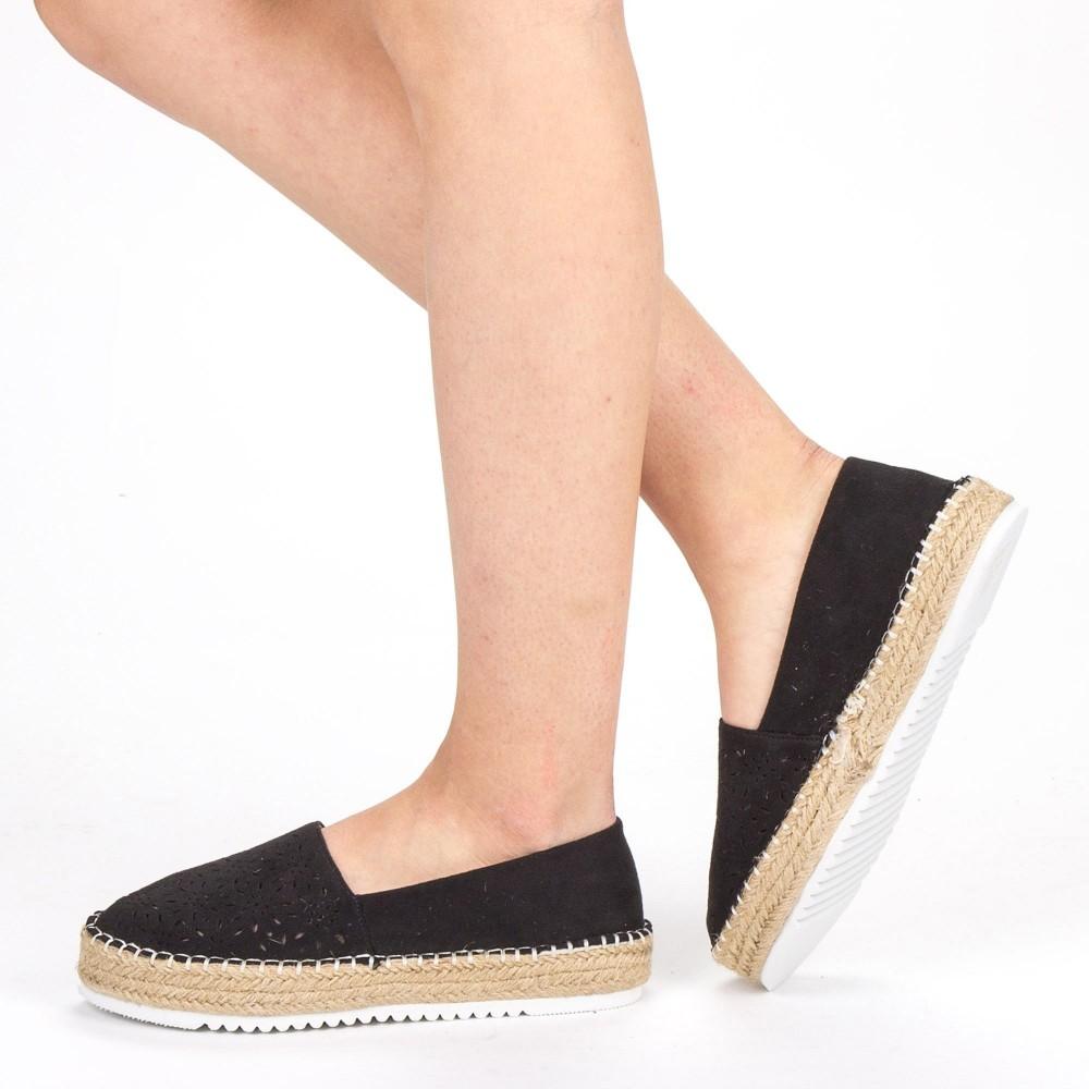 Pantofi Casual Dama FD37 Black Mei