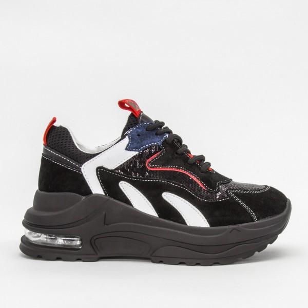 Pantofi Sport cu Platforma Dama CJL7 Black Mei