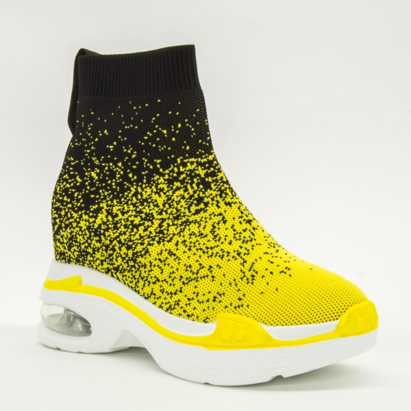 Pantofi Sport cu Platforma Dama CJL3 Yellow Mei
