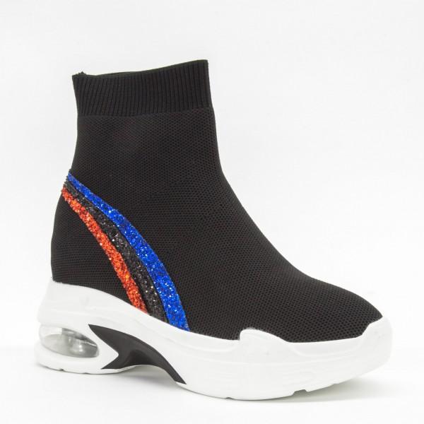 Pantofi Sport cu Platforma Dama CJL2 Black Mei