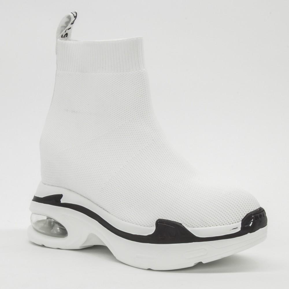 Pantofi Sport cu Platforma Dama CJL1 White Mei