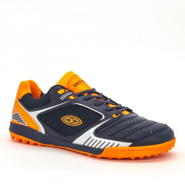 Ghete Fotbal Baieti BX8740-1 Navy-Orange Sky Wing