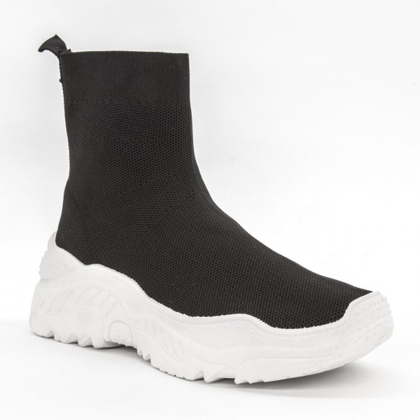 Pantofi Sport cu Platforma Dama 901 Black Diamantique