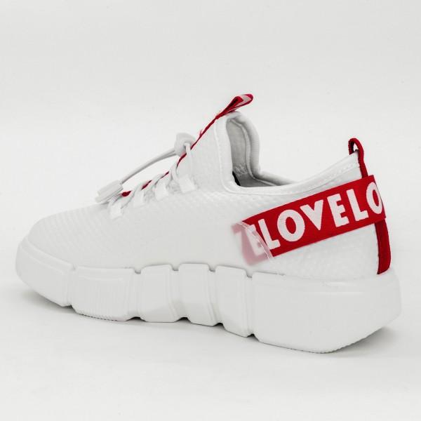 Pantofi Sport Dama AD135 White Mix Feel