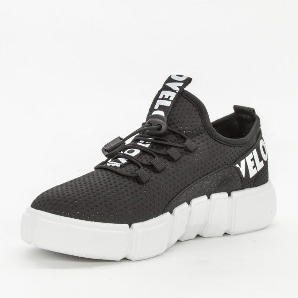 Pantofi Sport Dama AD135 Black Mix Feel
