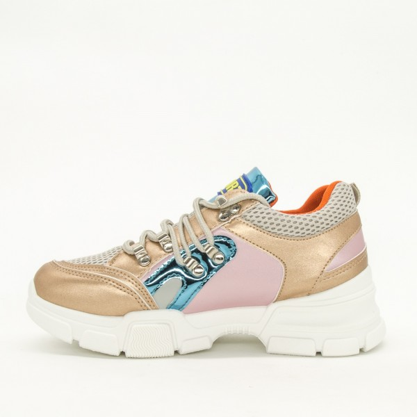 Pantofi Sport Dama YKQ35 Gold Mei