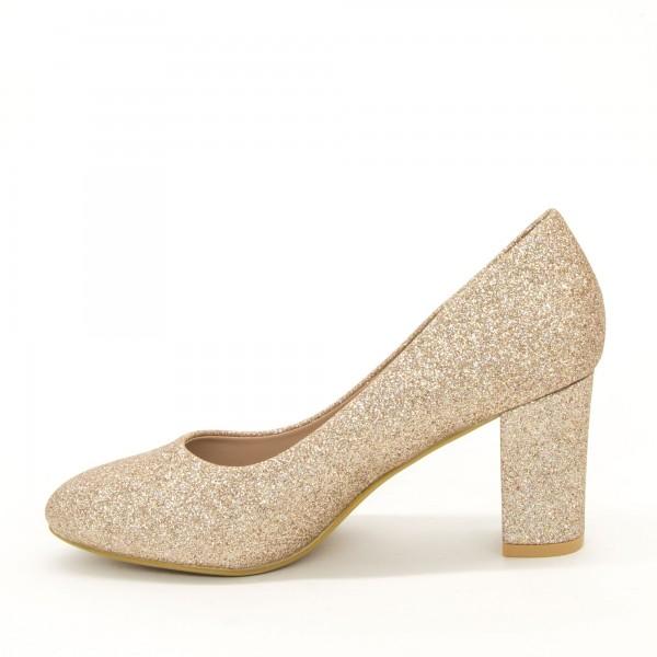 Pantofi cu Toc XD126B Champagne Mei