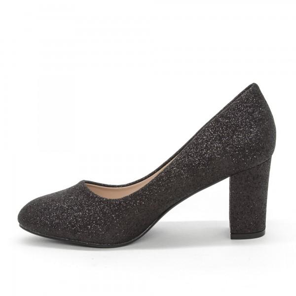 Pantofi cu Toc XD126B Black Mei