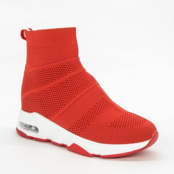 Pantofi Sport cu Platforma Dama SZ177 Red Mei