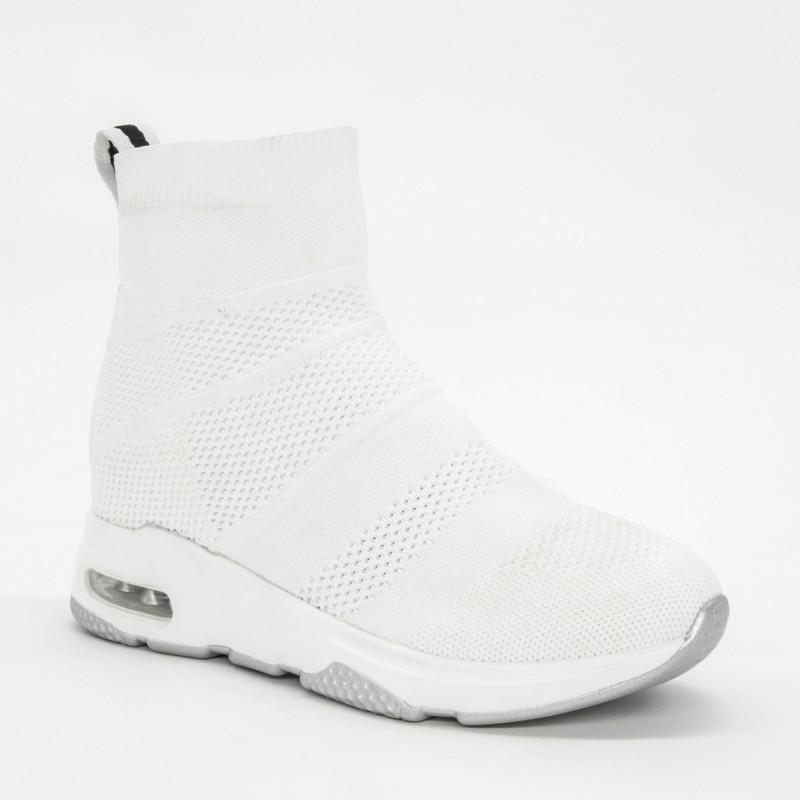 Pantofi Sport cu Platforma Dama SZ177 White Mei