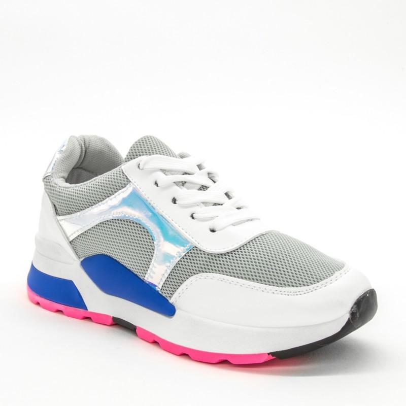 Pantofi Sport Dama ABC286 White-Grey Sport Fashion