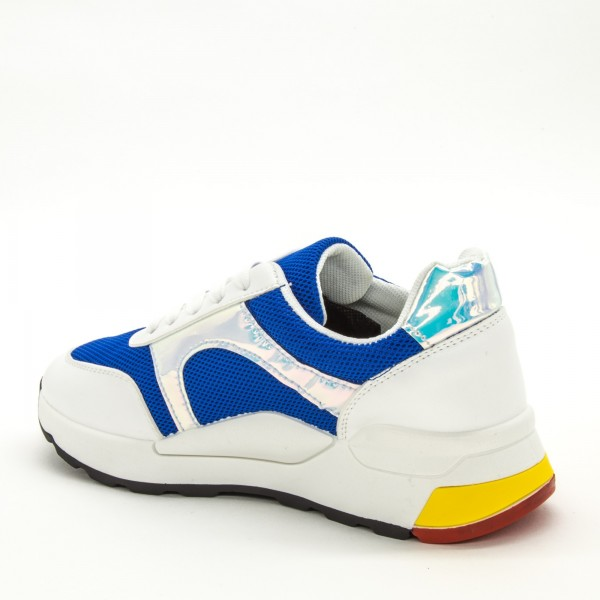 Pantofi Sport Dama ABC286 White-Blue Sport Fashion