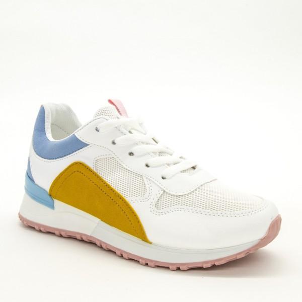 Pantofi Sport Dama ABC283 White-Blue Sport Fashion