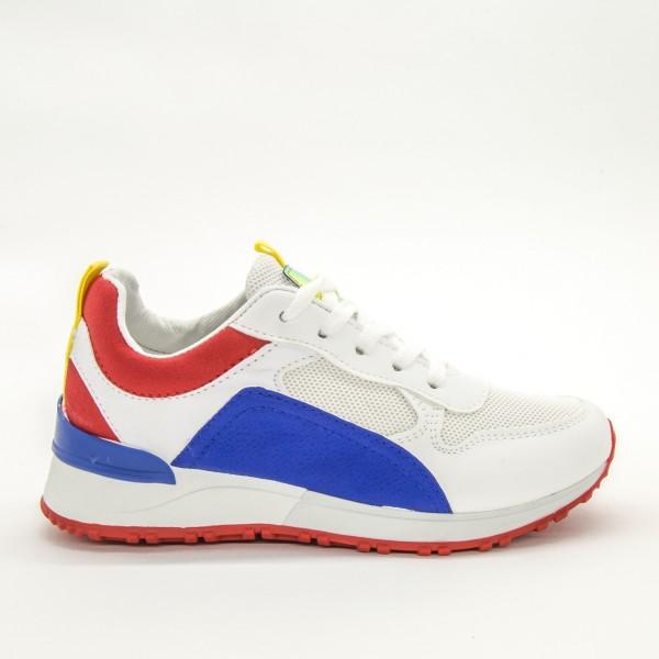 Pantofi Sport Dama ABC283 White-Red Sport Fashion