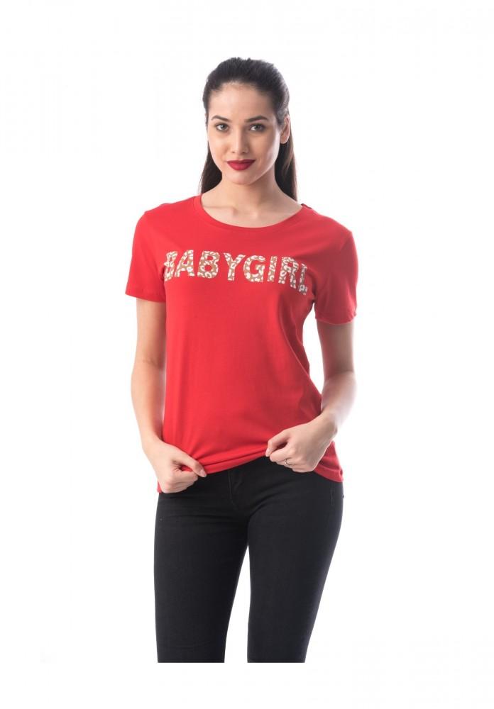 Tricou Dama 8050 BABYGIRL Rosu Adrom