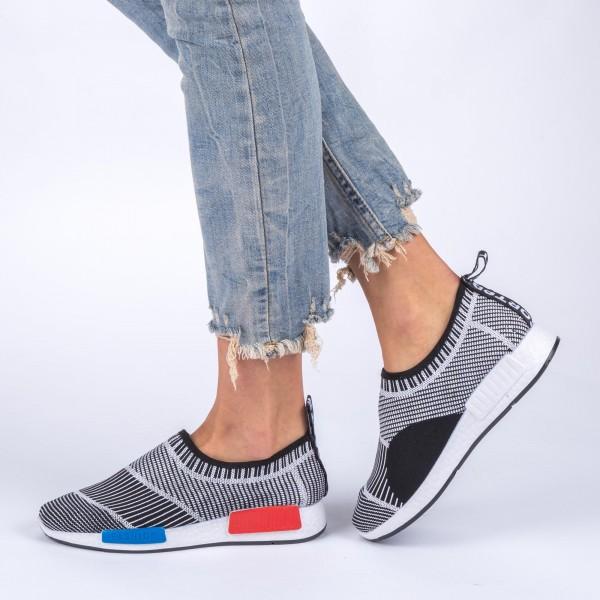 Pantofi Sport Dama 392 Black-White Sport Fashion