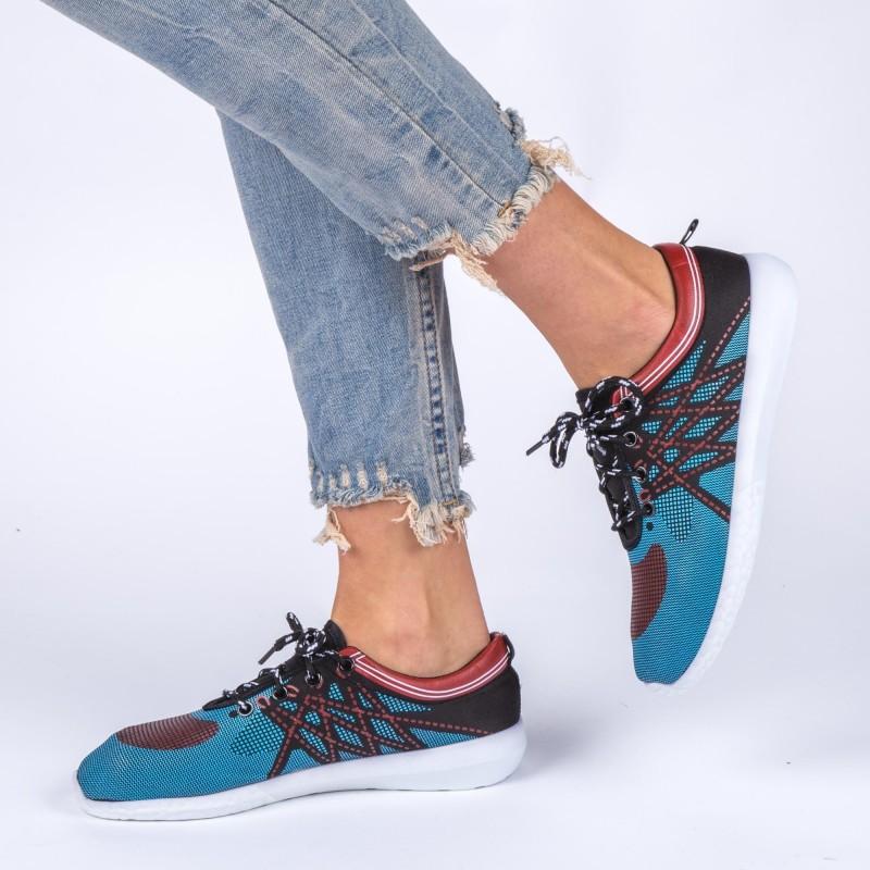 Pantofi Sport Dama ZJ29 Blue-Black Sport Fashion