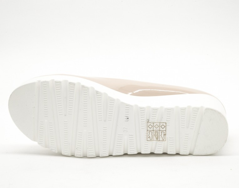 Pantofi Casual Dama cu Platforma W88-3 Beige Lady Star