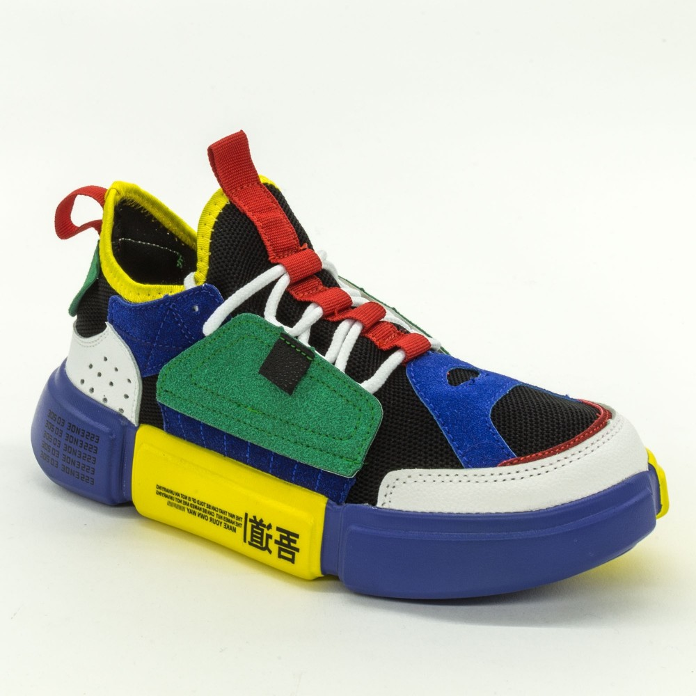 Pantofi Sport Dama FK1813 Blue-Yellow Sport Fashion