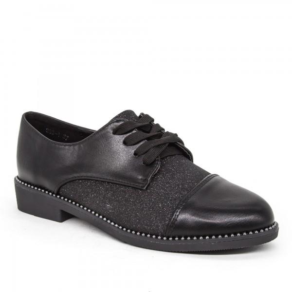 Pantofi Casual Dama 333-1 Black Lady Star