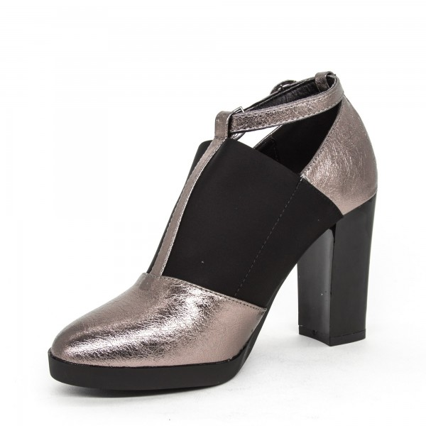 Pantofi cu Toc W33-11B Pewter Lady Star