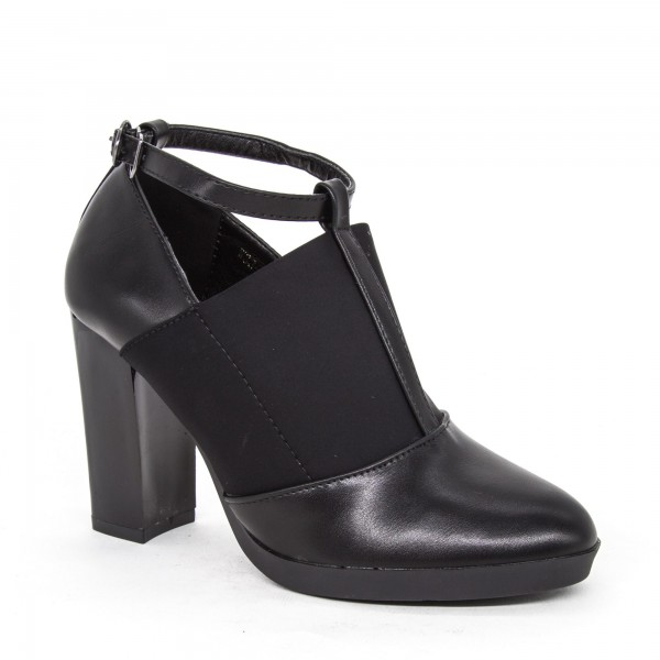 Pantofi cu Toc W33-11A Black Lady Star