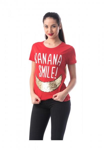 Tricou Dama 8049 BANANA Rosu Adrom