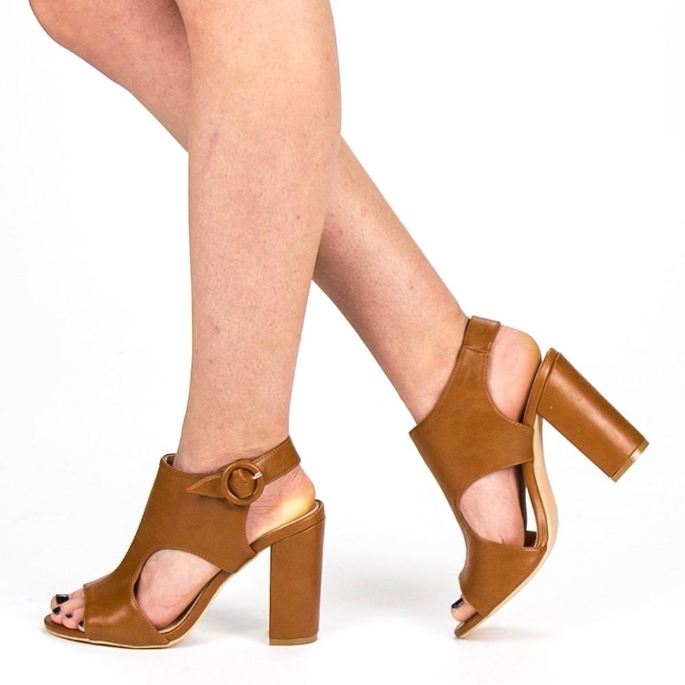Sandale Dama cu Toc YBS50 Camel Mei