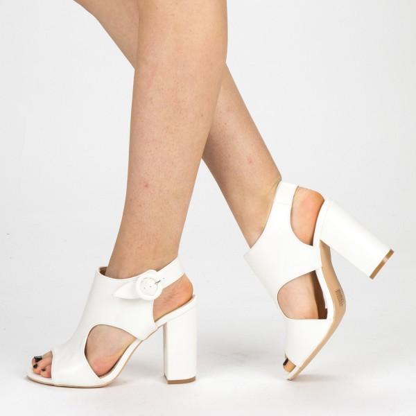Sandale Dama cu Toc YBS50 White Mei