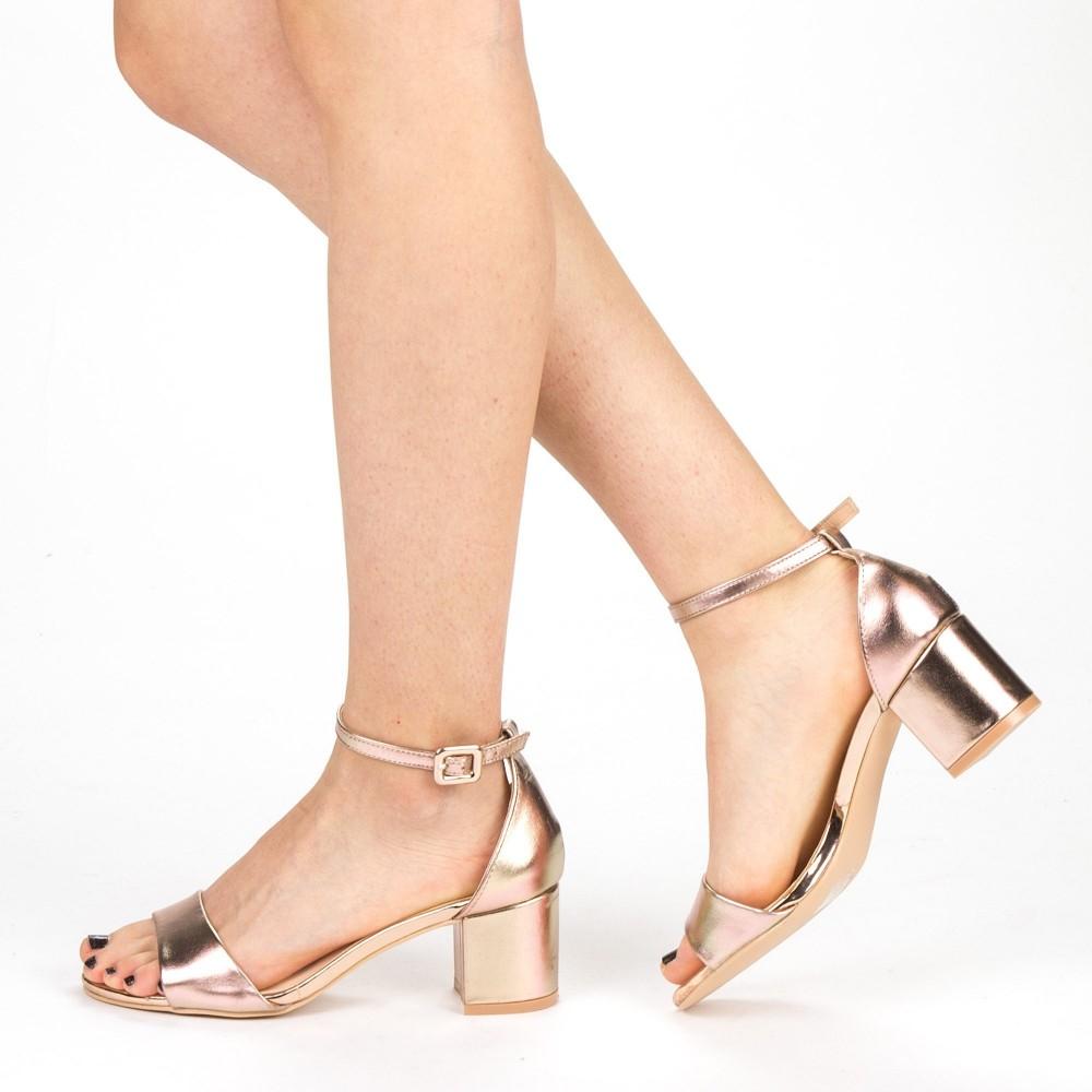 Sandale Dama cu Toc YBS37 Champagne Mei