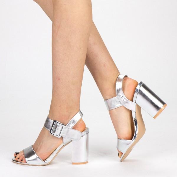 Sandale Dama cu Toc YBS36 Silver Mei