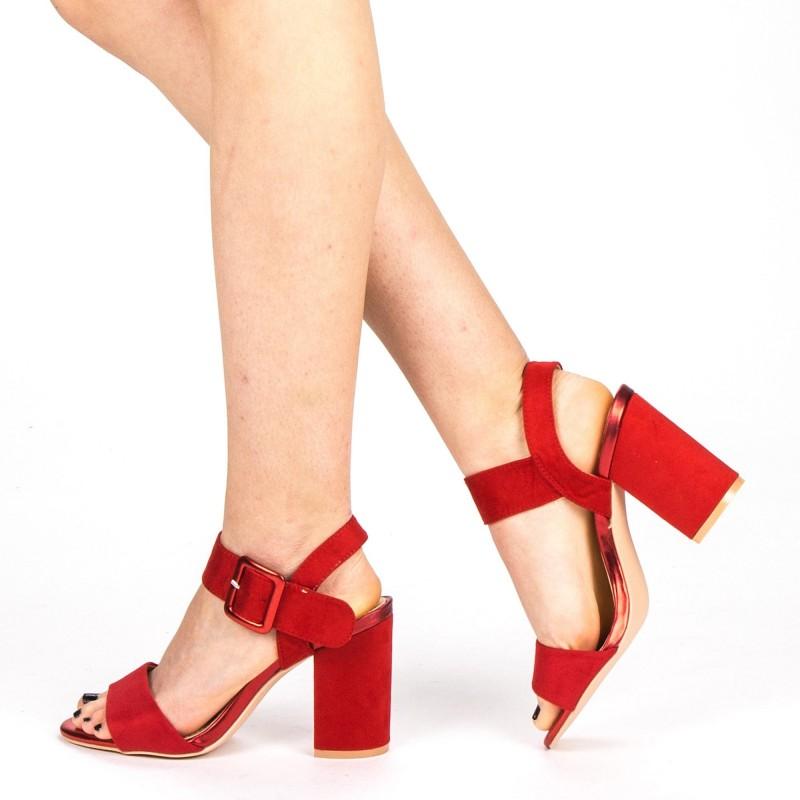 Sandale Dama cu Toc YBS36 Red Mei
