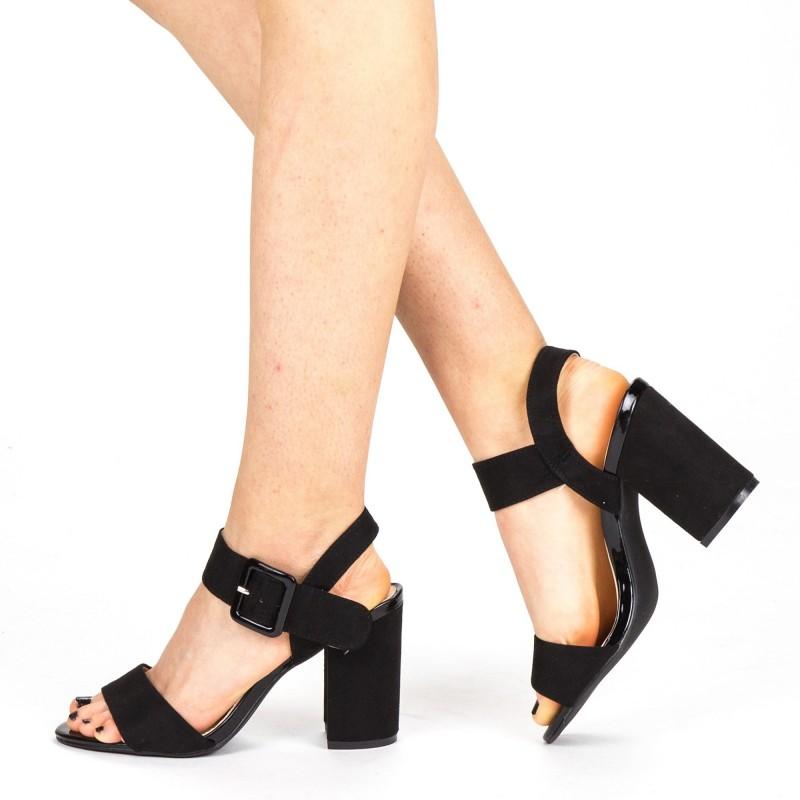Sandale Dama cu Toc YBS36 Black Mei