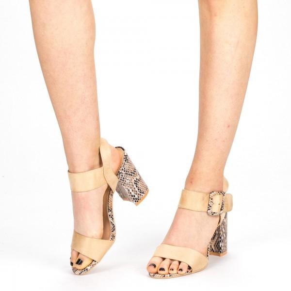 Sandale Dama cu Toc YBS35 Beige Mei