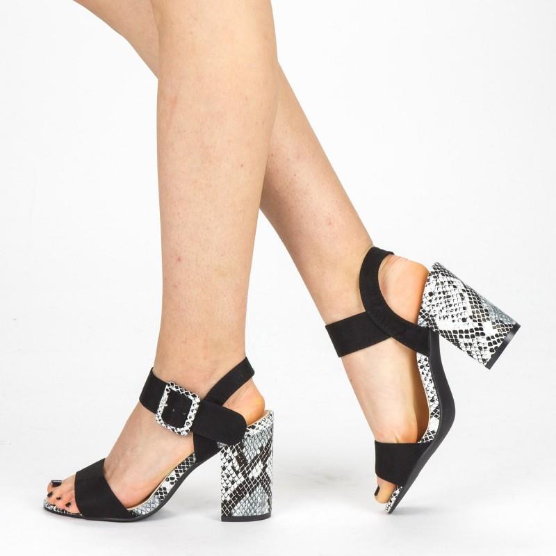 Sandale Dama cu Toc YBS35 Black Mei