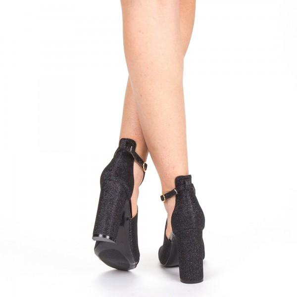 Sandale Dama cu Toc XKK163B Black Mei