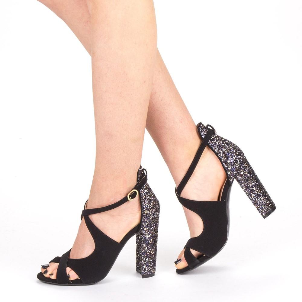 Sandale Dama cu Toc XKK163A Gold Mei