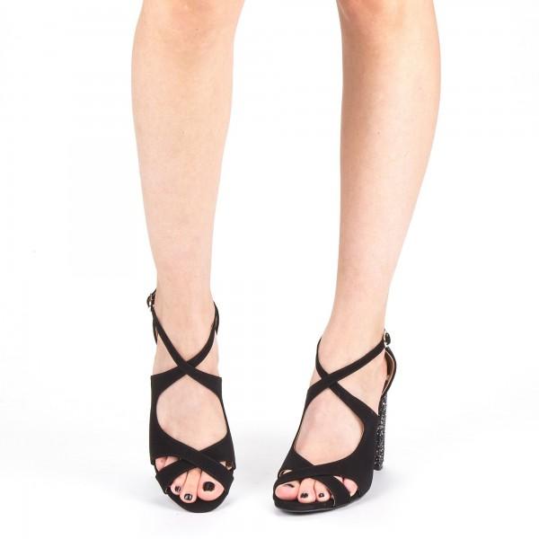 Sandale Dama cu Toc XKK163A Guncolor Mei