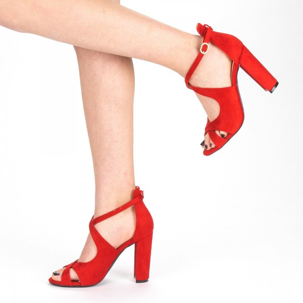 Sandale Dama cu Toc XKK163 Red Mei