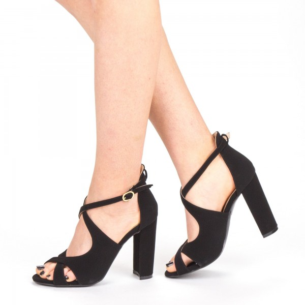 Sandale Dama cu Toc XKK163 Black Mei