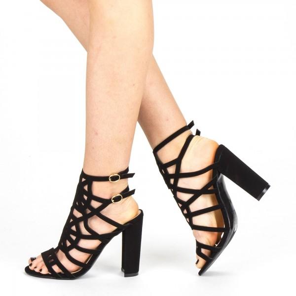 Sandale Dama cu Toc XKK157 Black Mei