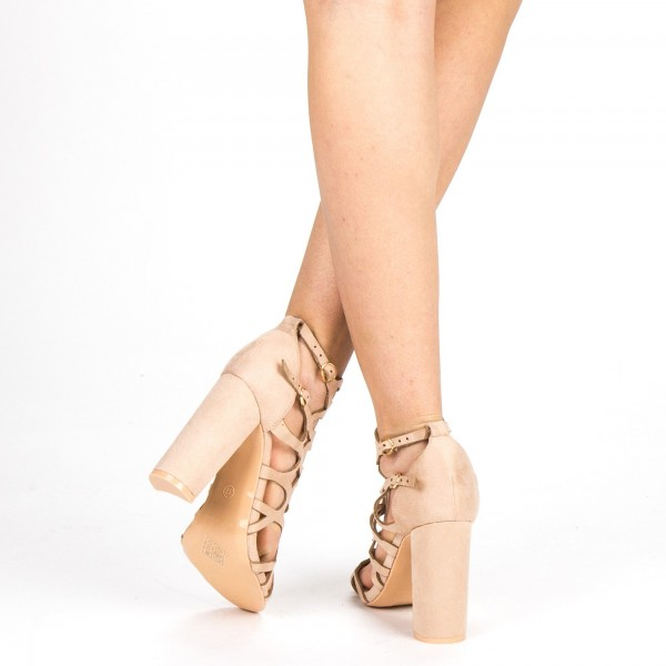 Sandale Dama cu Toc XKK155 Pink Mei