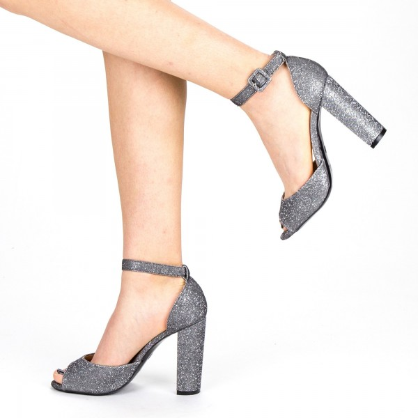 Sandale Dama cu Toc XKK110A Guncolor Mei