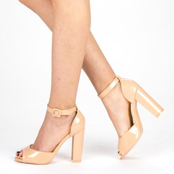 Sandale Dama cu Toc XKK110A Nude Mei